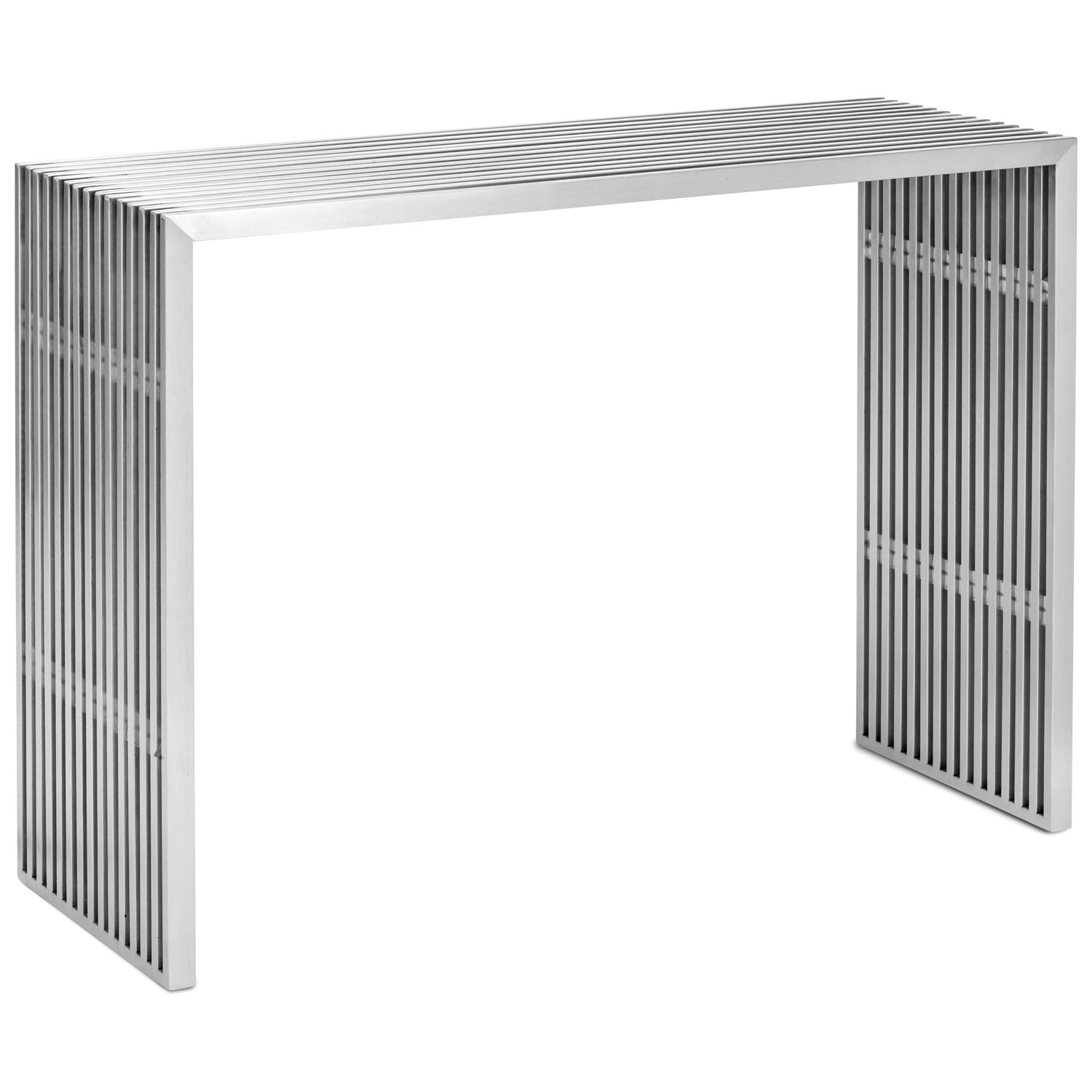 Novel Console Table - Stainless Steel - ZM-100085