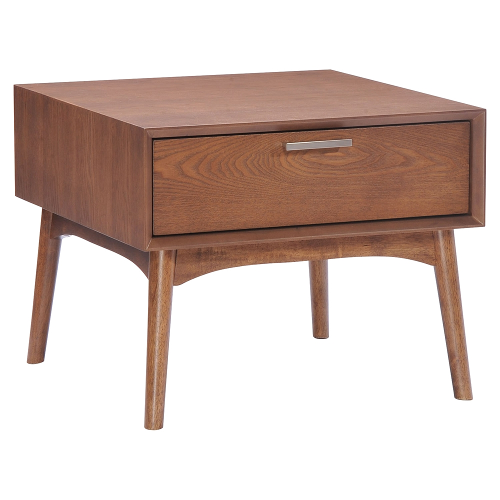 Design District Walnut Side Table Dcg Stores