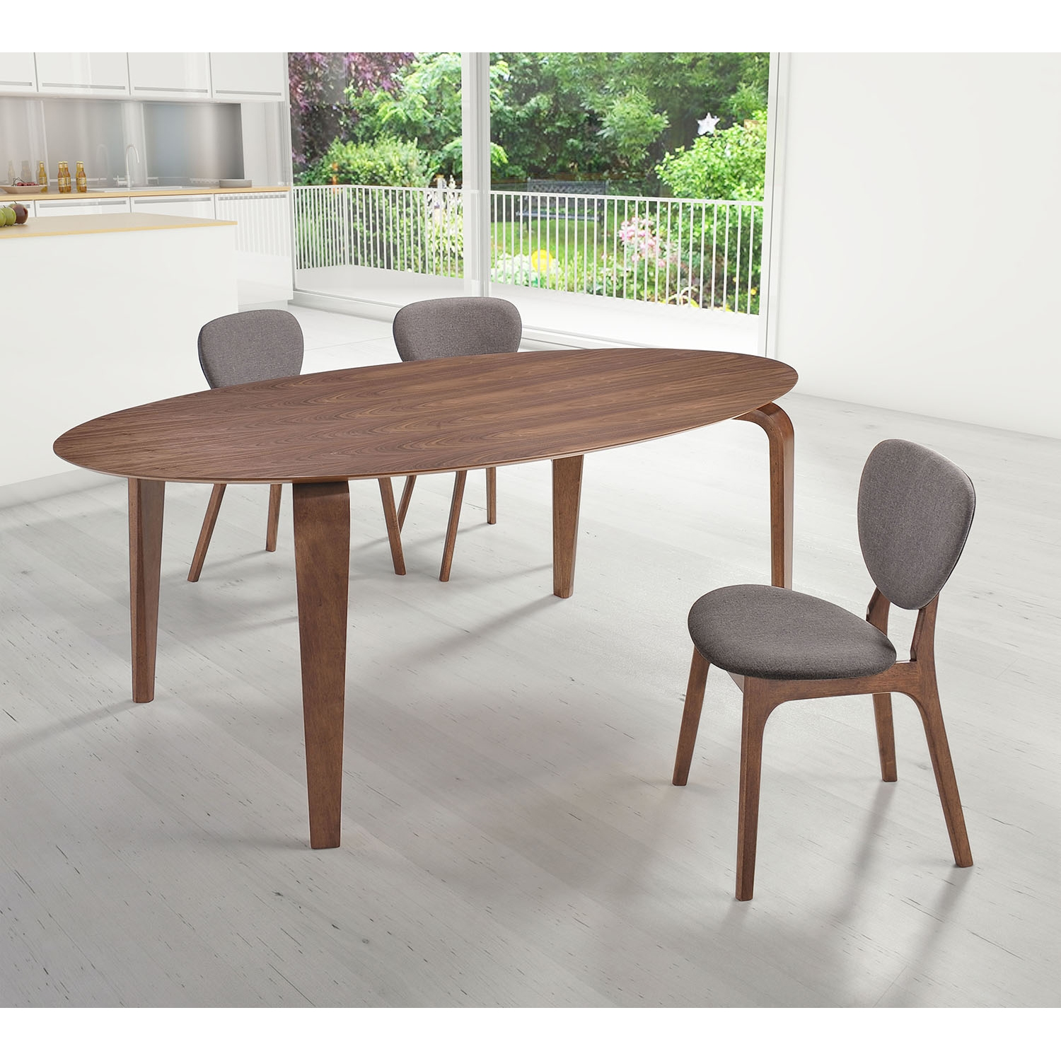 Virginia Key Dining Table - Walnut - ZM-100099