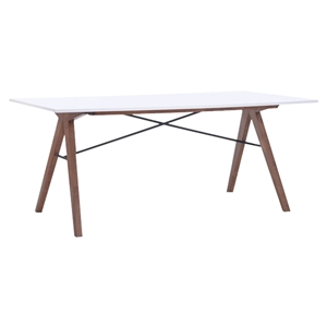 Saints Dining Table - Walnut and White