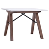 Saints Side Table - Walnut and White - ZM-100146