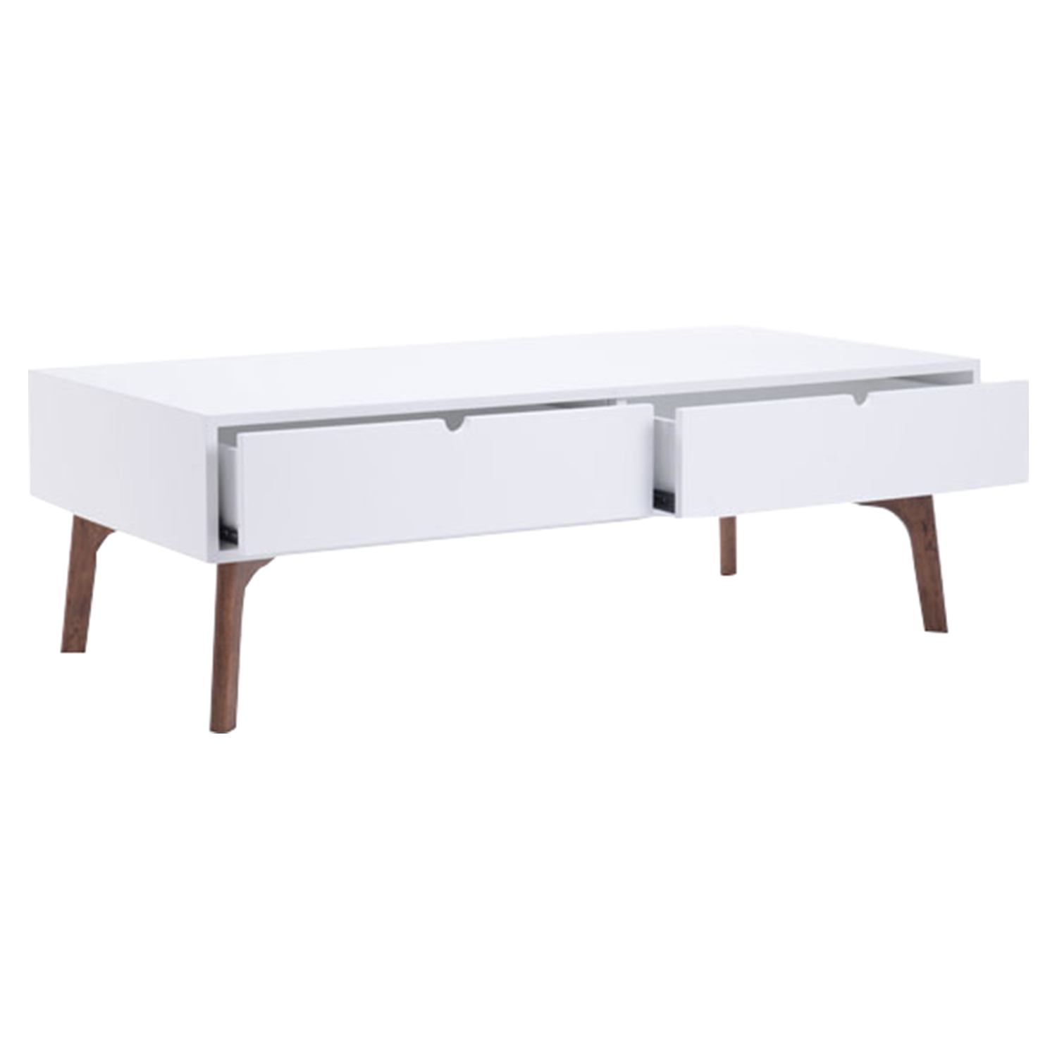 Padre Coffee Table - Walnut and White - ZM-100148