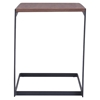 Sister End Table - Walnut and Black - ZM-100151