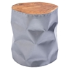 Crumple Stool - Silver - ZM-100161