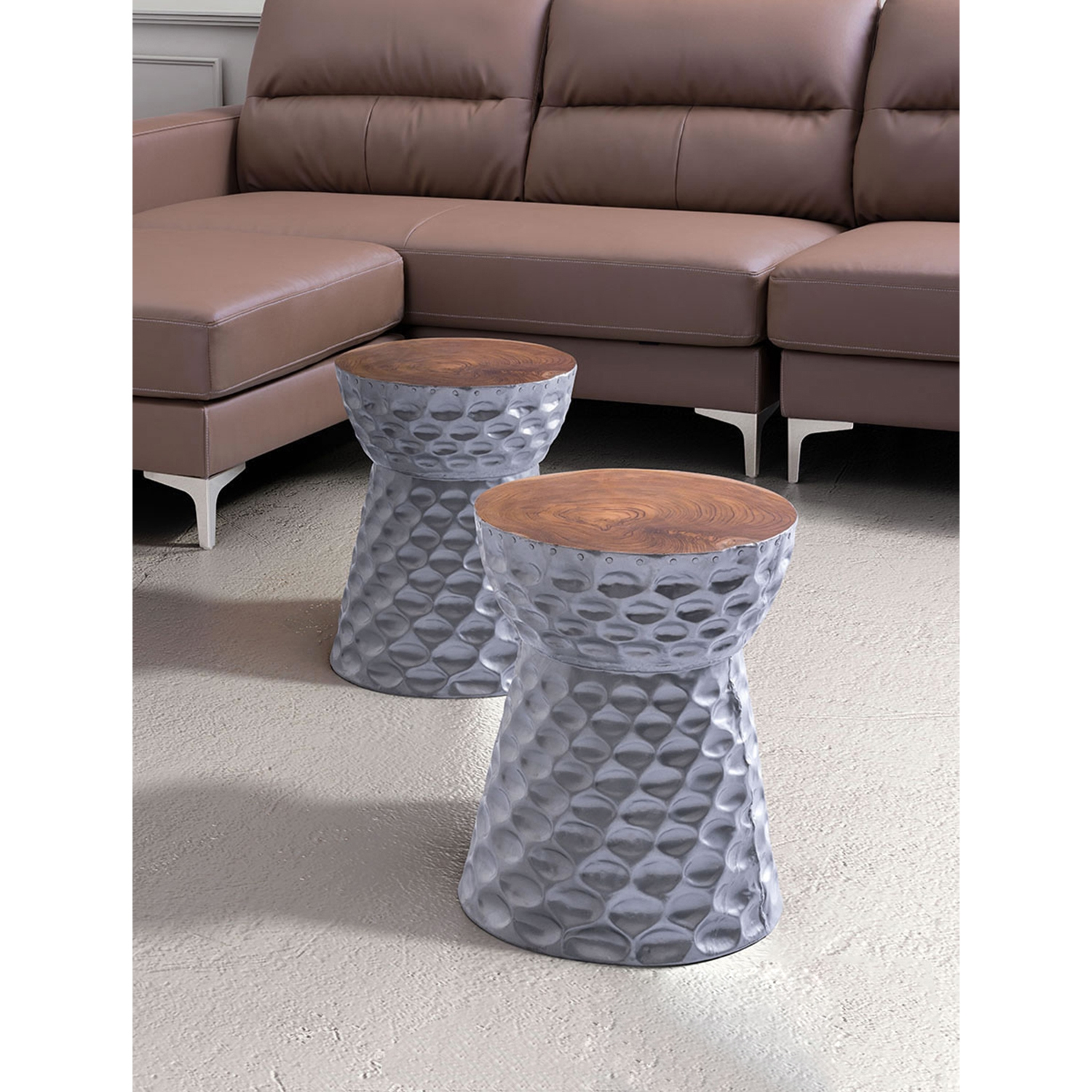 Ting Stool - Silver - ZM-100165
