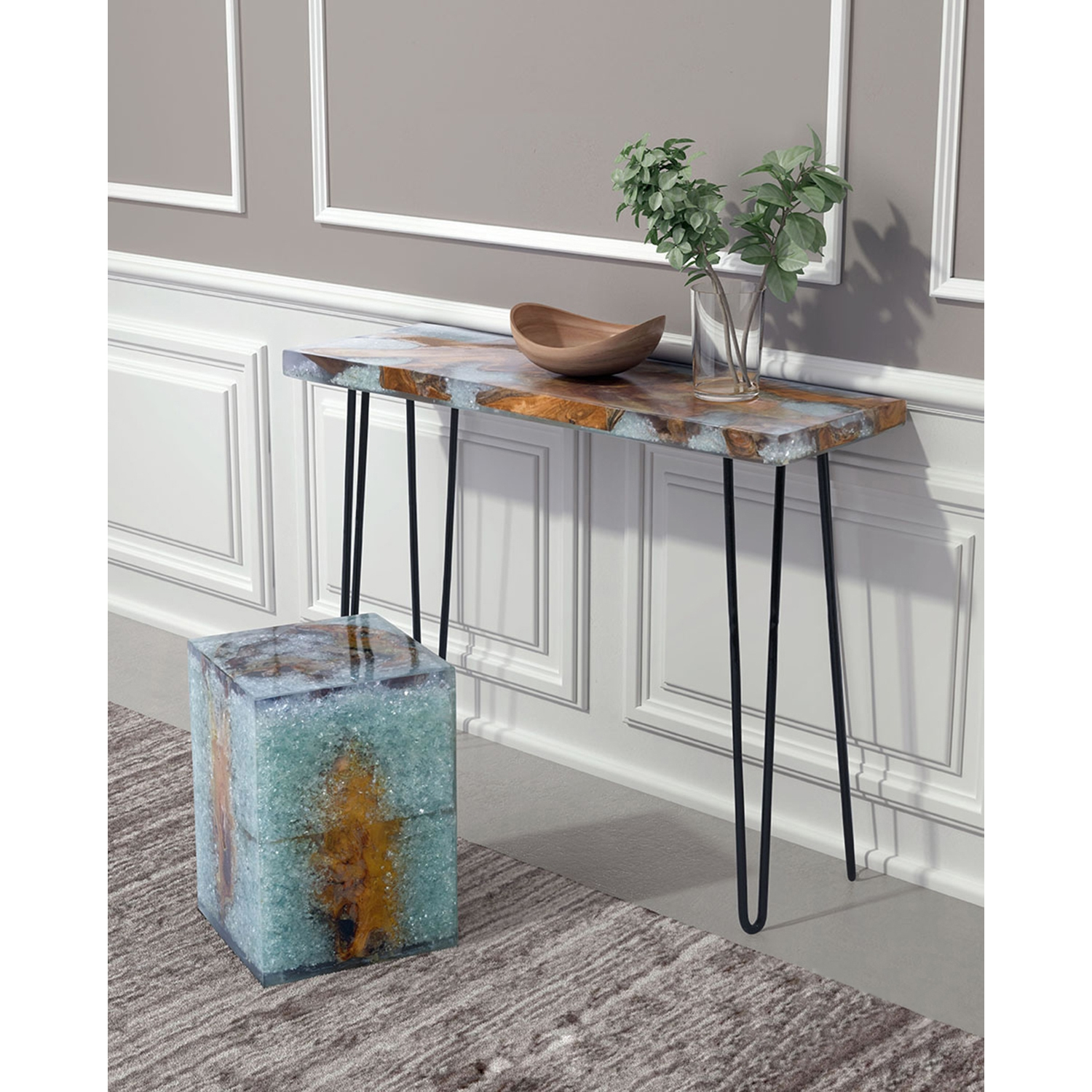Fissure Console Table - Natural - ZM-100167