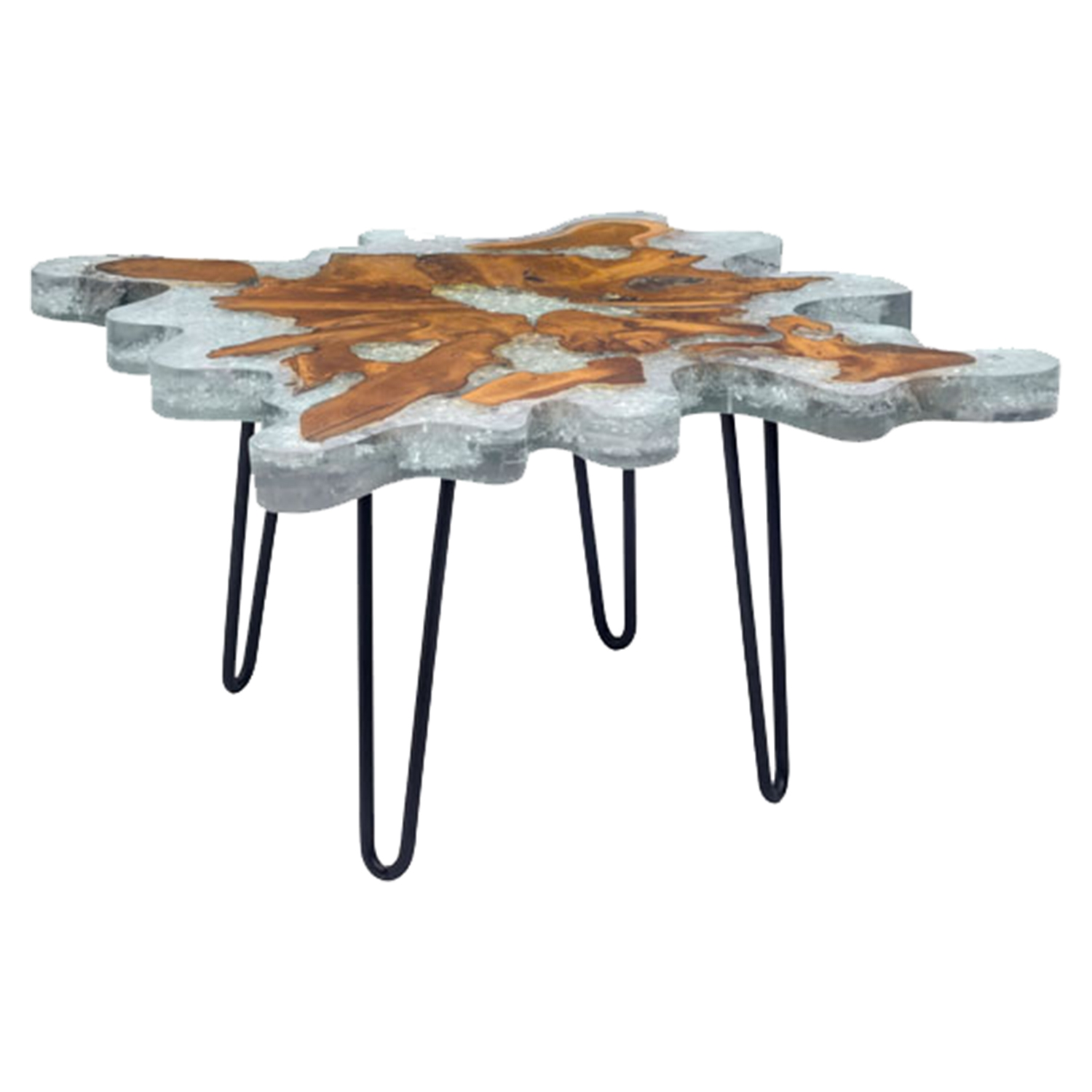 Jigsaw Square Coffee Table - Natural - ZM-100169