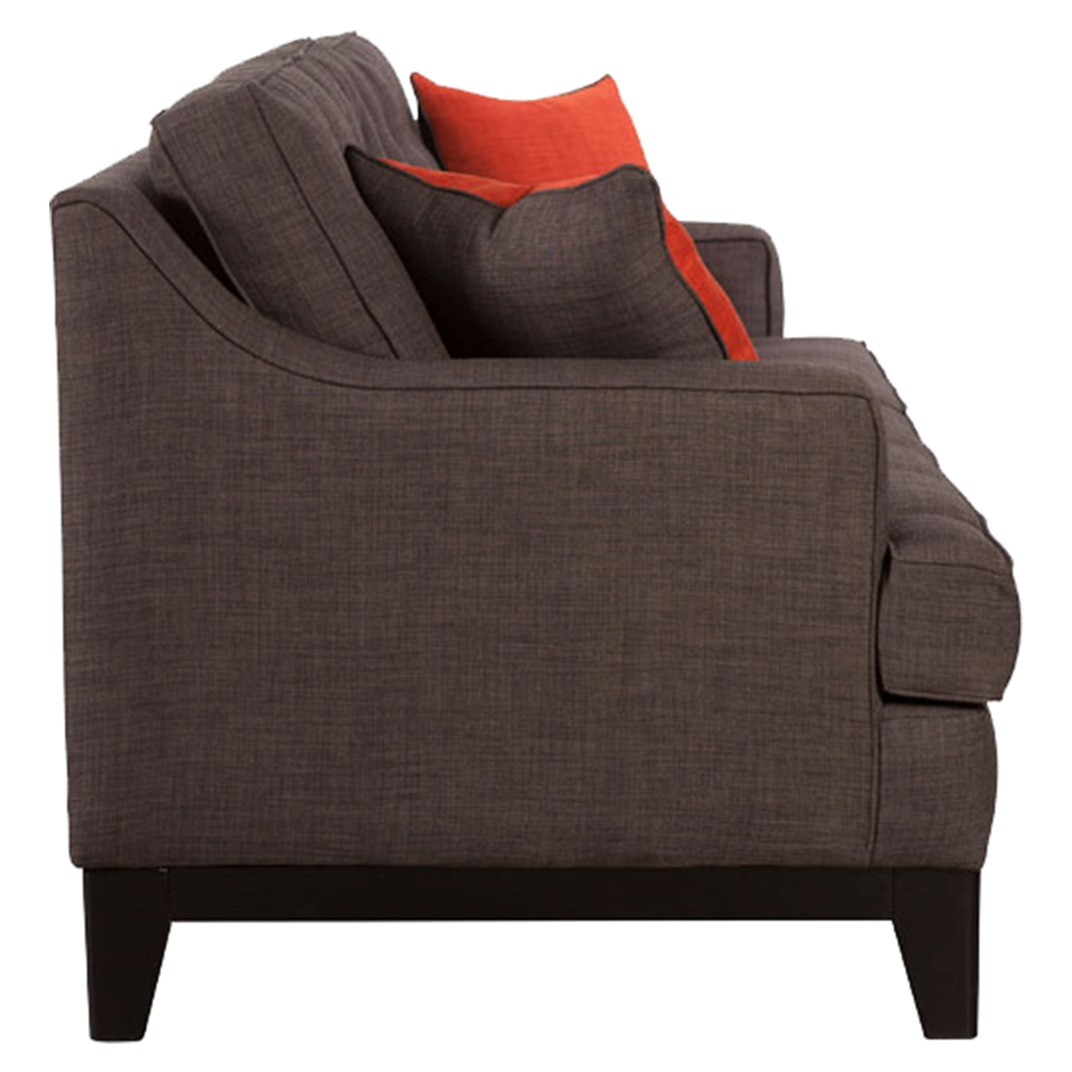 Chicago Tufted Sofa - Charcoal and Burnt Orange - ZM-100174