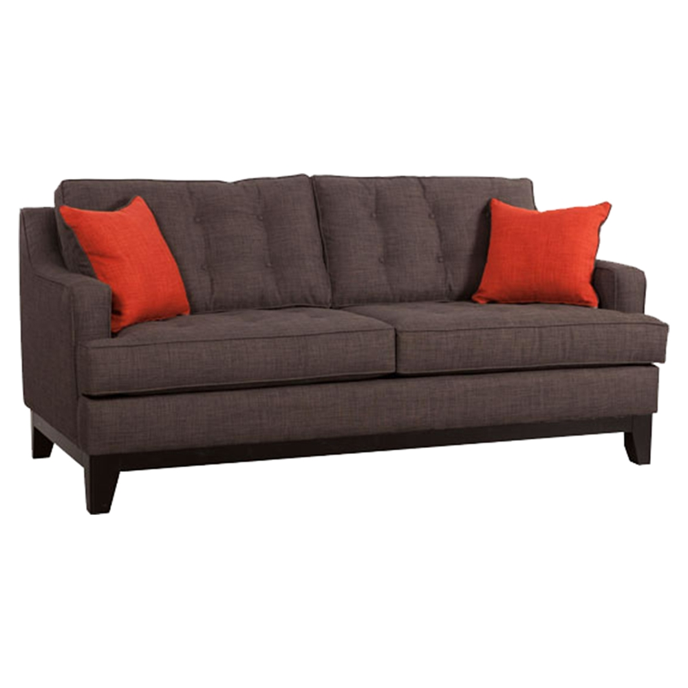 Chicago Tufted Sofa Charcoal And Burnt Orange Dcg Stores