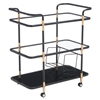 Secret Serving Cart - Black and Gold - ZM-100191