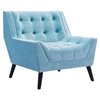 Nantucket Arm Chair - Tufted, Aqua Velvet - ZM-100214