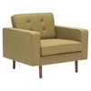 Puget Arm Chair - Tufted, Green - ZM-100218