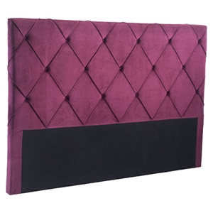 Matias Headboard King - Tufted, Wine Velvet