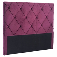 Matias Headboard Queen - Tufted, Wine Velvet