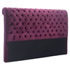 Sergio Headboard King - Tufted, Wine Velvet - ZM-100229