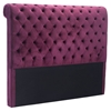 Sergio Headboard Queen - Tufted, Wine Velvet - ZM-100230