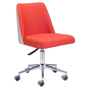 Season Office Chair - Orange and Beige