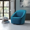 Pug Swivel Chair - Aquamarine - ZM-100251