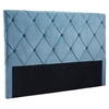 Matias Headboard King - Tufted, Blue Velvet - ZM-100253