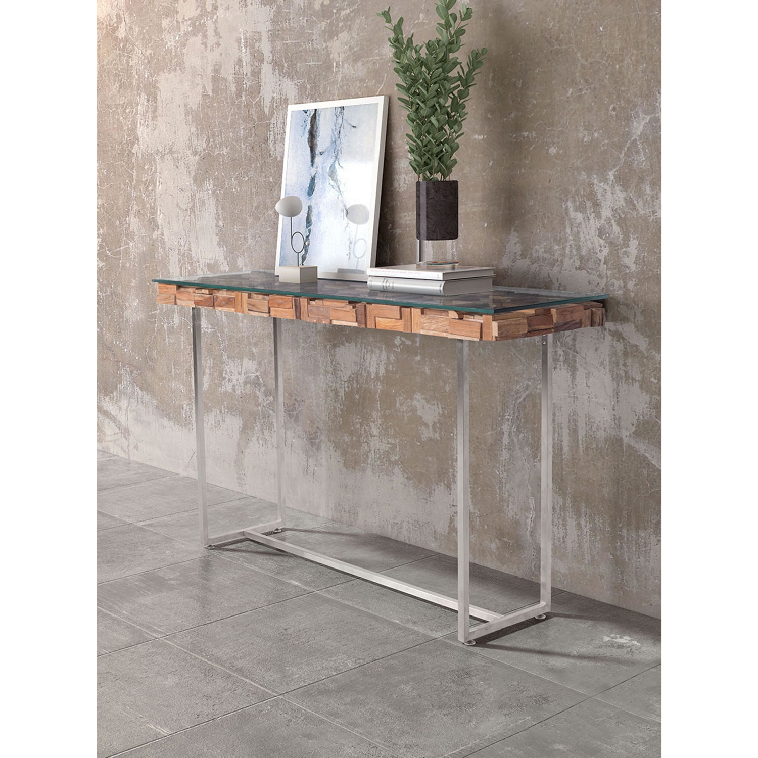 Collage Console Table - Natural - ZM-100259