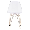 Shadow Dining Chair - Transparent and Gold - ZM-100262