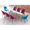 Vaz Dining Chair - Blue Velvet - ZM-100270