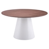 Query Dining Table - Walnut and White - ZM-100271