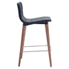 Jericho Counter Chair - Backless, Gray - ZM-100272