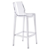 Phantom Backless Bar Chair - Clear - ZM-100289