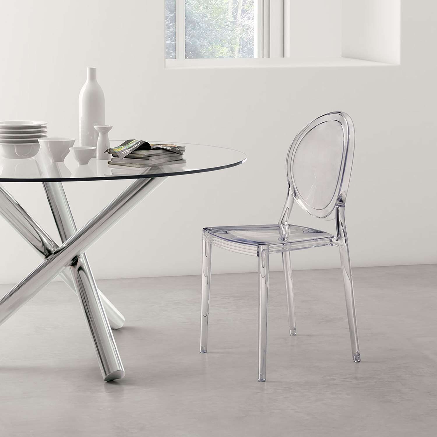 Specter Dining Chair - Clear - ZM-100299