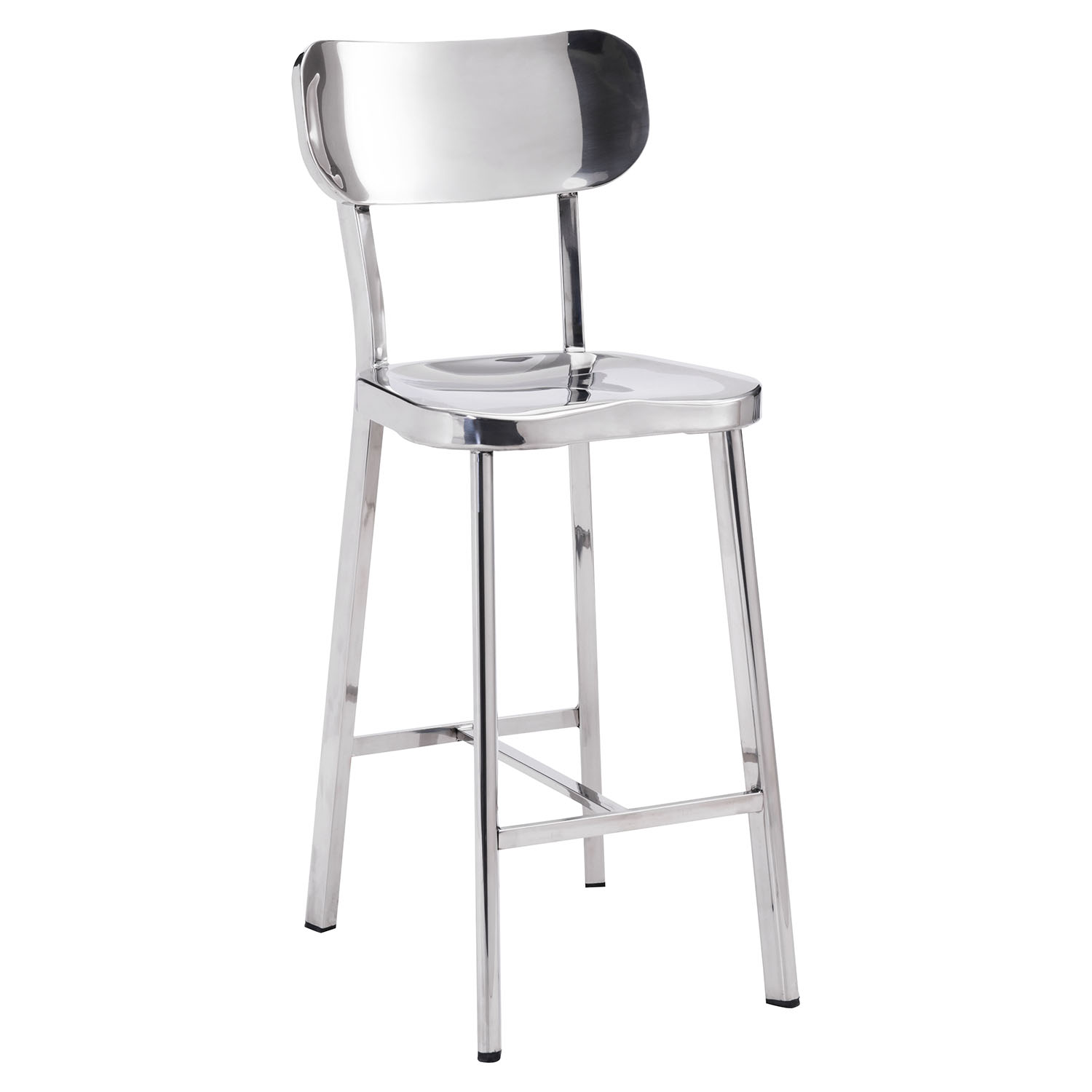 Winter Counter Chair - Stainless Steel - ZM-100302