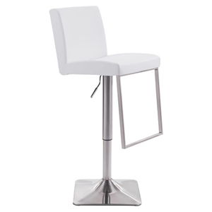 Puma Bar Chair - Adjustable, White
