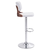 Lynx Bar Chair - Adjustable, White - ZM-100318