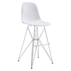 Zip Backless Bar Chair - White - ZM-100323