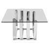 Fan Coffee Table - Chrome - ZM-100326