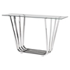 Fan Console Table - Chrome - ZM-100328