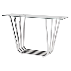 Fan Console Table - Chrome