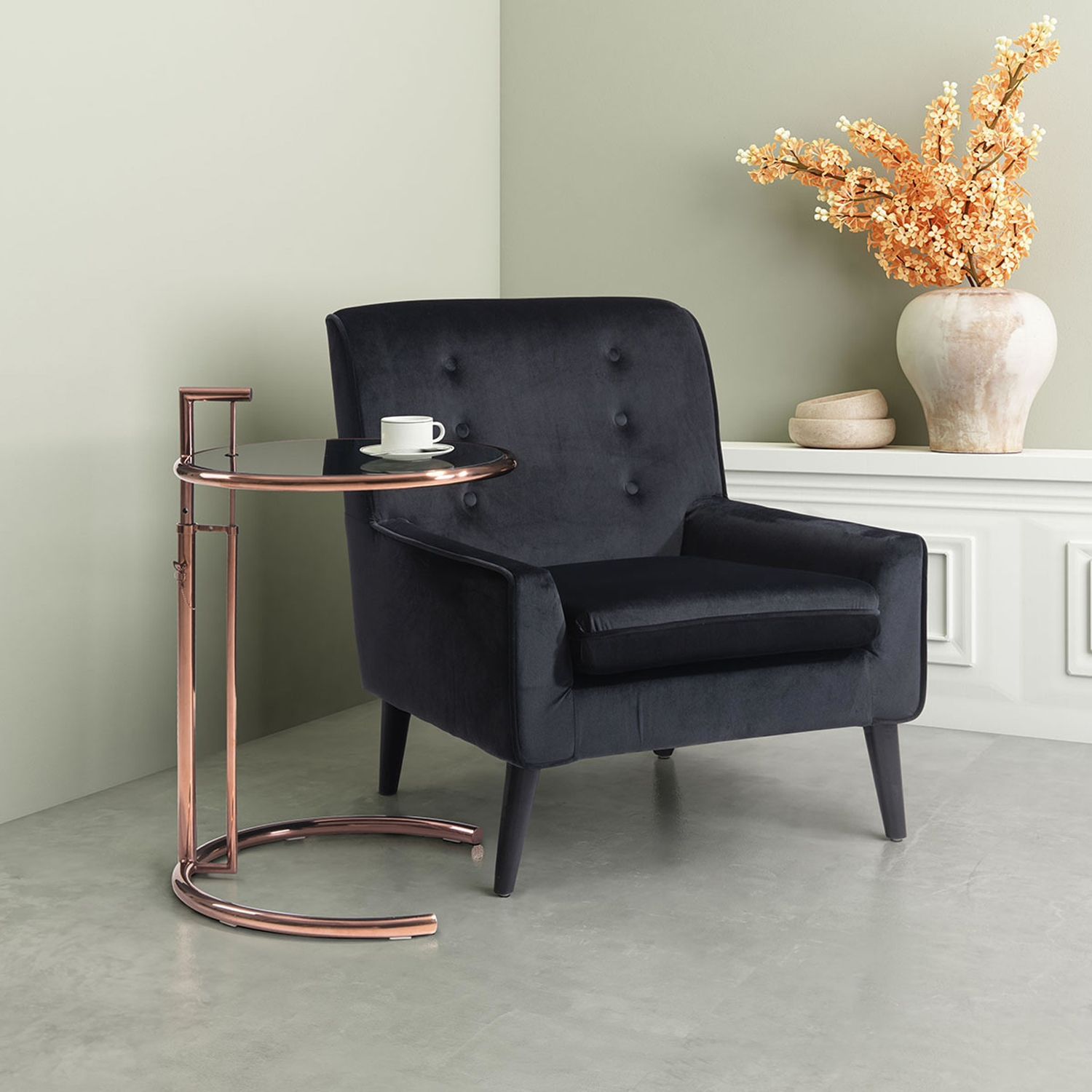 Eileen End Table - Rose Gold - ZM-100339