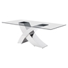 Wave Dining Table - Chrome - ZM-100350