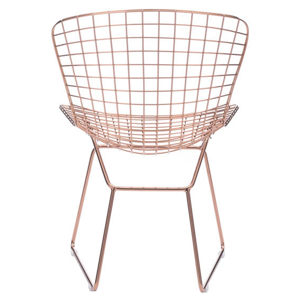 Wire Dining Chair Rose Gold DCG Stores