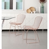 Wire Dining Chair - Rose Gold - ZM-100361