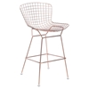 Wire Bar Chair - Backless, Rose Gold - ZM-100362