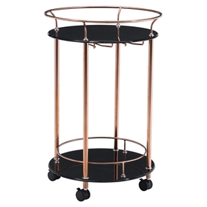Plato Serving Cart - Rose Gold