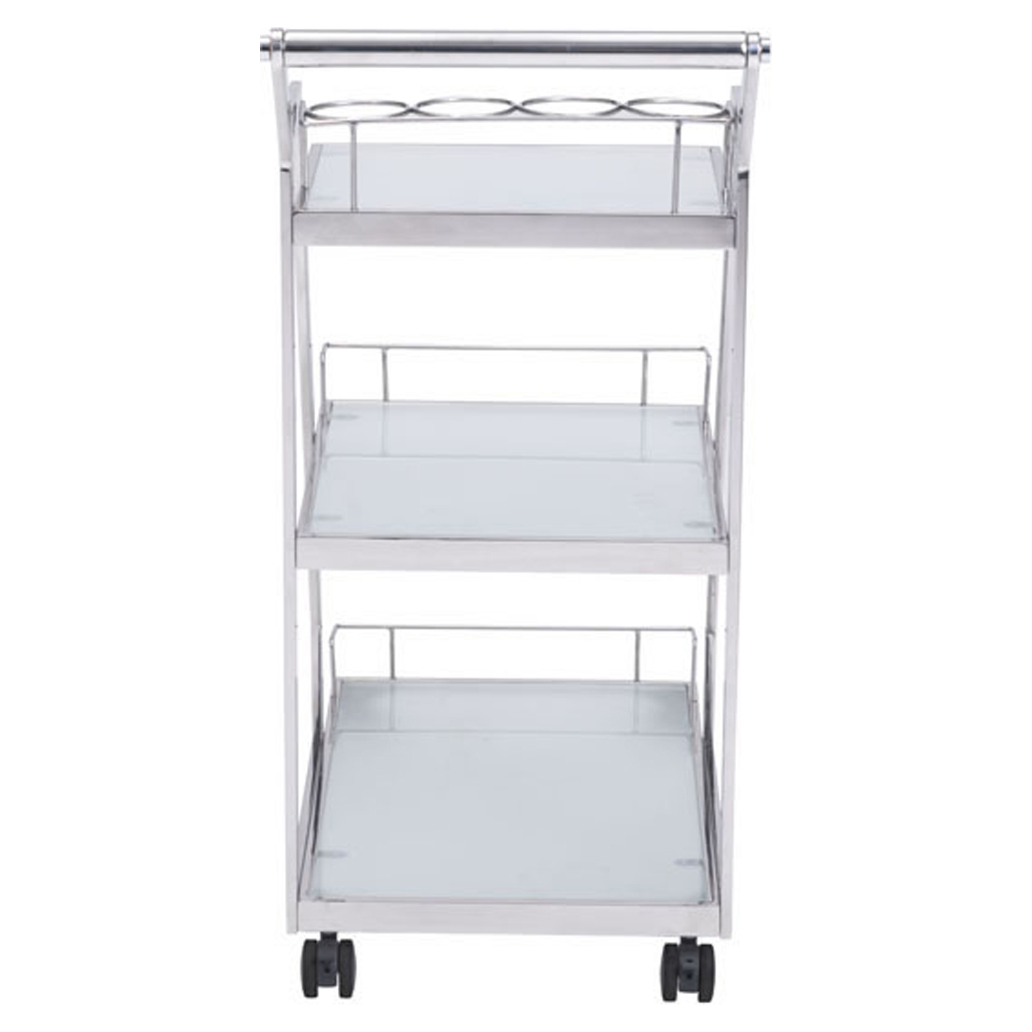 Acropolis Serving Cart - Stainless Steel - ZM-100367