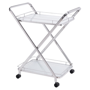 Vesuvius Serving Cart - Stainless Steel