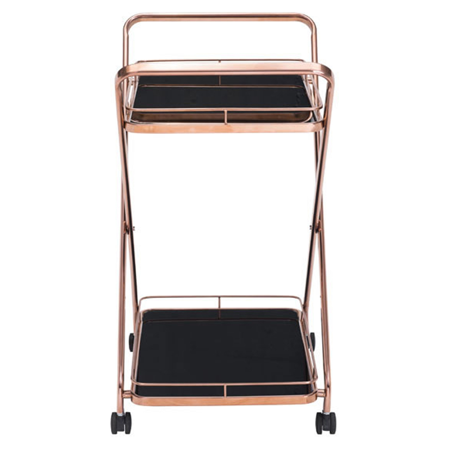 Vesuvius Serving Cart - Rose Gold - ZM-100370