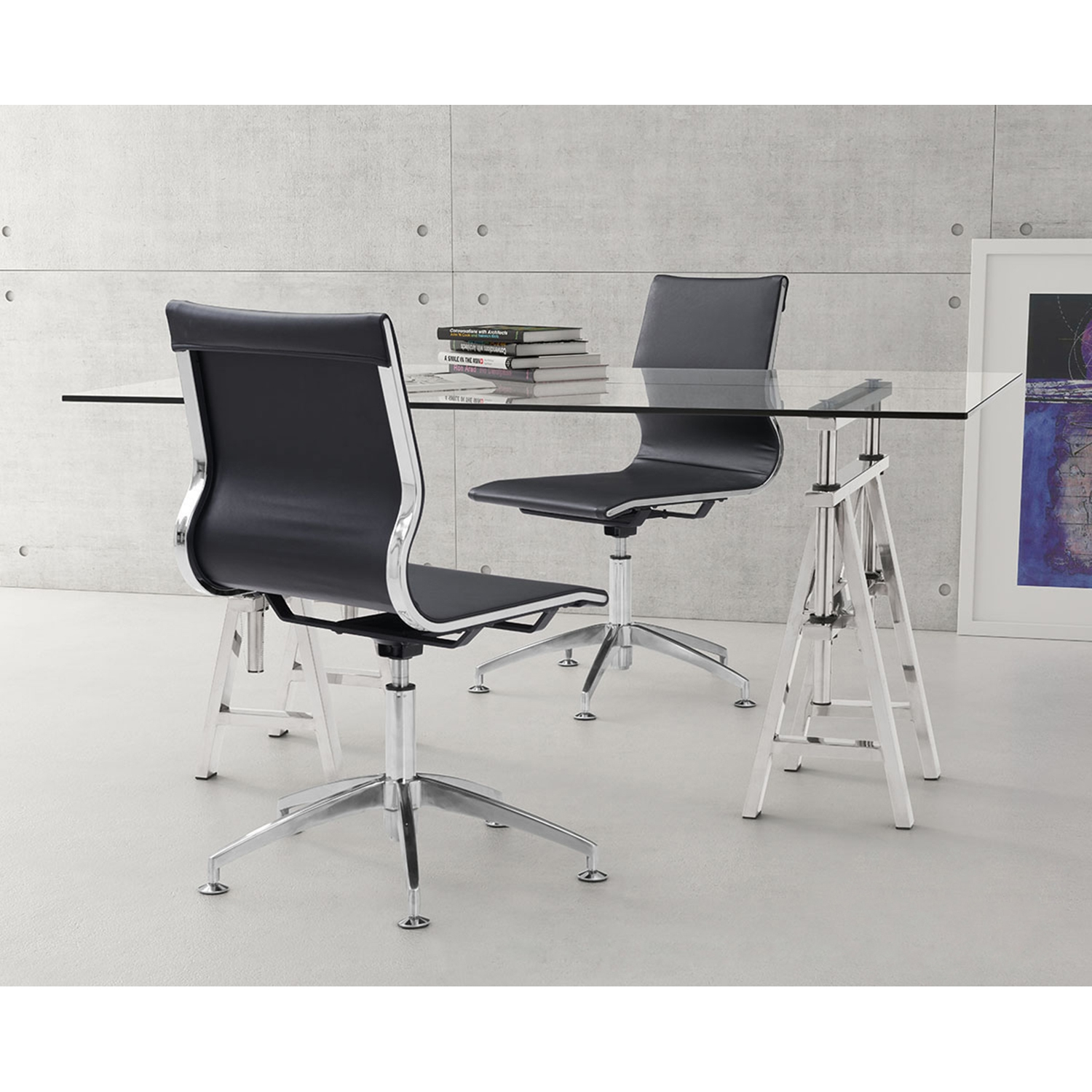 Glider Conference Chair - Black - ZM-100377