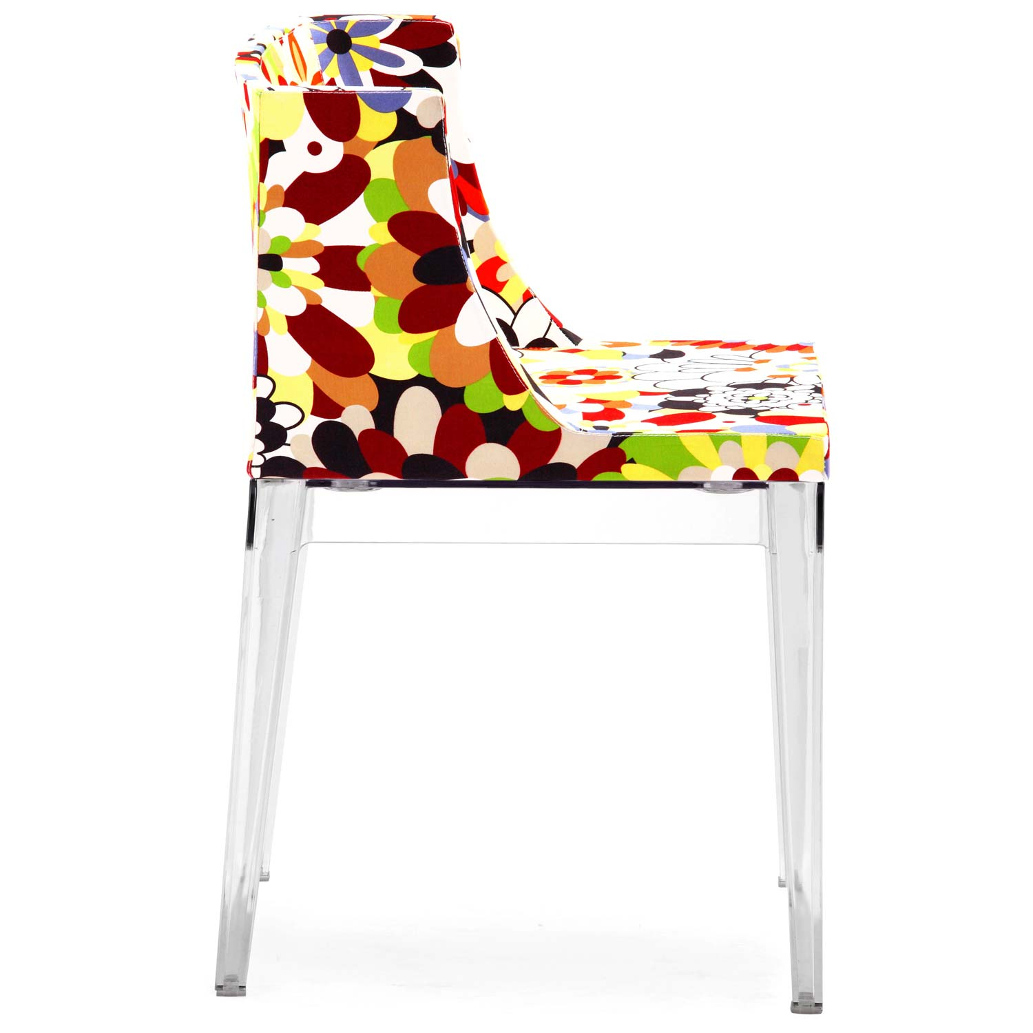 Pizzaro Dining Chair - Clear Legs, Print Fabric - ZM-102113