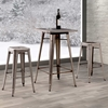 Olympia Square Bar Table - Steel, Gunmetal - ZM-601189