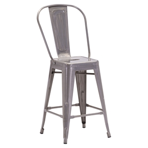 Elio Counter Chair - Gunmetal